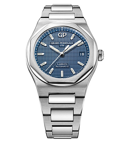 GIRARD-PERREGAUX 81005-11-431-11A Laureato stainless steel watch