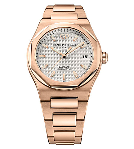 GIRARD-PERREGAUX 81005-52-132-52A Laureato rose gold watch