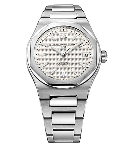 GIRARD-PERREGAUX 81010-11-131-11A Laureato stainless steel watch