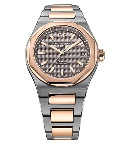 GIRARD-PERREGAUX 81010-26-232-26A Laureato rose gold and titanium watch