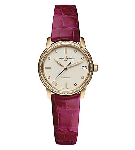 ULYSSE NARDIN 8106-116B-2/990 Classico rose-gold and diamond watch