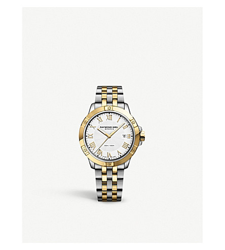 RAYMOND WEIL 8160-STP-00308 Tango stainless steel gold-plated watch