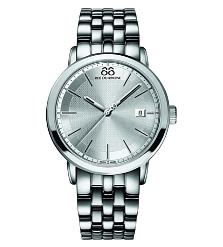 88 RUE DU RHONE 87WA130016 stainless steel quartz watch (Silver