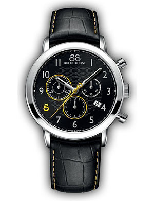 88 RUE DU RHONE 87WA140028 Double 8 Origin stainless steel and leather watch