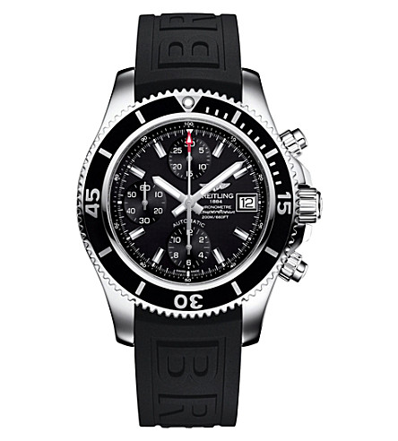 BREITLING A13311C9/BF98 161A Superocean stainless steel chronograph watch