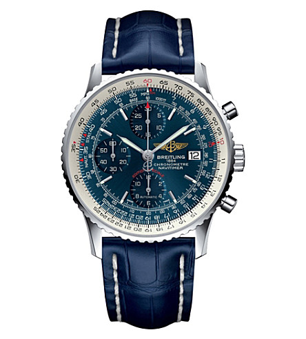 BREITLING A1332412-C942732P Breitling Navitimer automatic stainless steel and crocodile strap watch