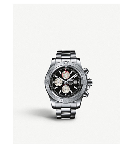 BREITLING A1337111/C871 168A Super Avenger II stainless steel automatic chronograph watch