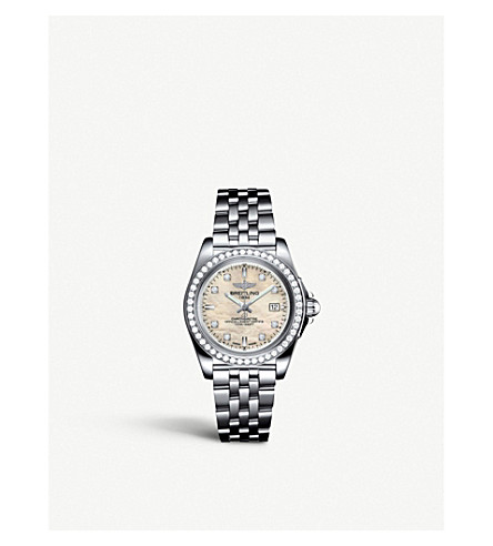 BREITLING A7133053/A801.792A Galactic 32 diamond and stainless steel watch