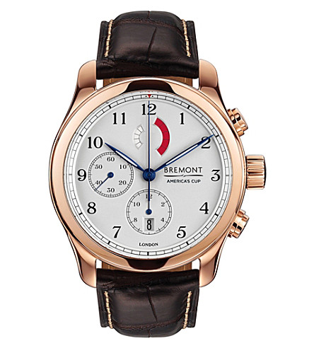 BREMONT AC-R/RG regatta rose gold-plated chronograph watch