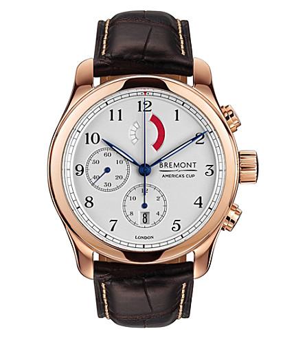 BREMONT AC R/RG 帆船赛玫瑰镀金计时腕表