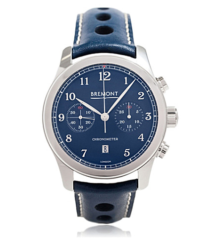 BREMONT ALT1-CTWG stainless steel and leather watch