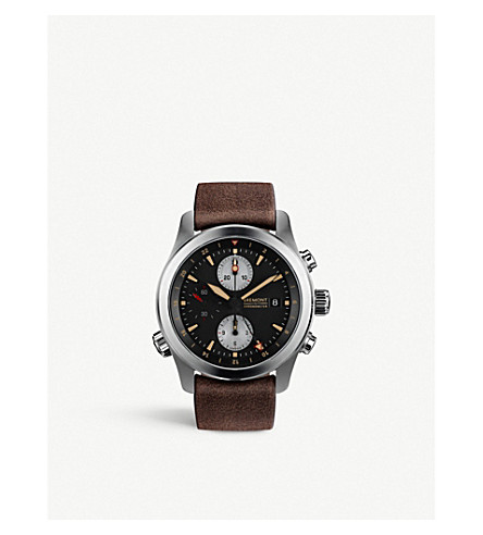 BREMONT ALT1-ZT/51 不锈钢和皮革计时腕表