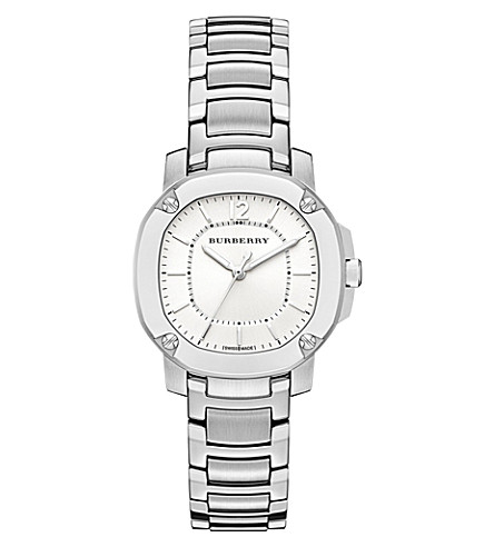 BURBERRY BBY1703 The Britain stainless steel watch (Silver