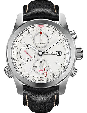 BREMONT BKM-SS Kingsman Special Edition stainless steel and leather watch