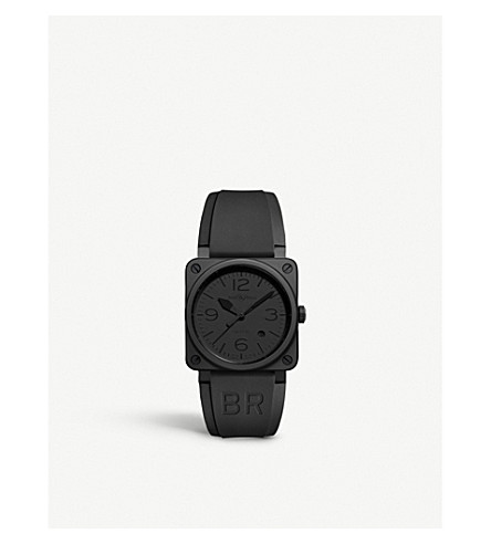 BELL & ROSS BR0392 Phantom ceramic and rubber watch (Black