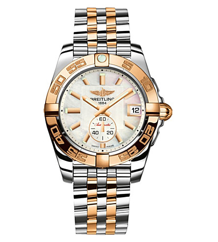 BREITLING C7234853.A792791C Galactic quartz steel and rose gold watch