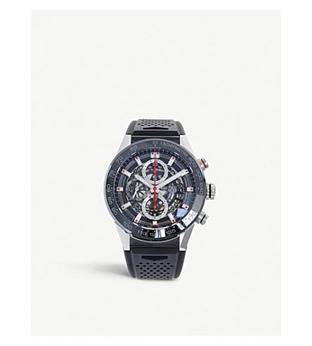 TAG HEUER CAR201V。FT6087 CARRERA 不锈钢和陶瓷计时腕表