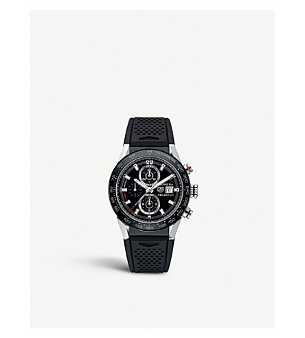 TAG HEUER CAR201ZFT6046 CARRERA 圆黑色表带手表