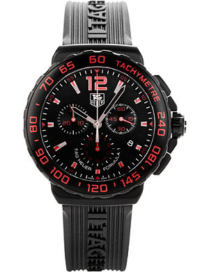 TAG HEUER Cau111d.ft6024 Formula 1 steel and rubber chronograph watch