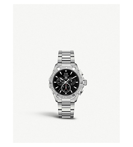 TAG HEUER CAY1110.BA0925 Aquaracer stainless steel watch (Black