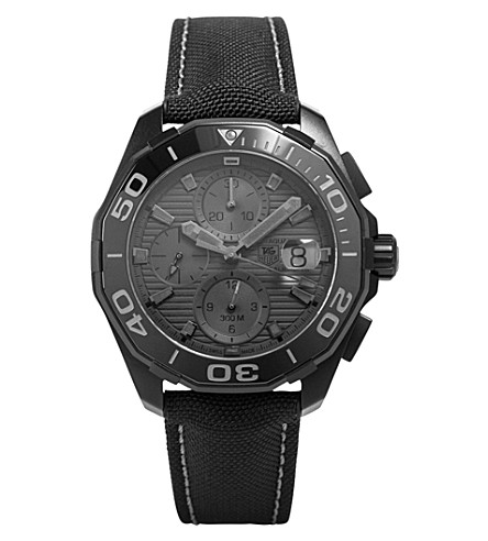 TAG HEUER CAY218B.FC6370 aquaracer automatic fabric strap watch