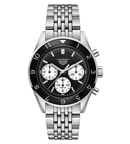 TAG HEUER CBE2110BA0687 Autavia Heuer 02 stainless steel chronograph watch