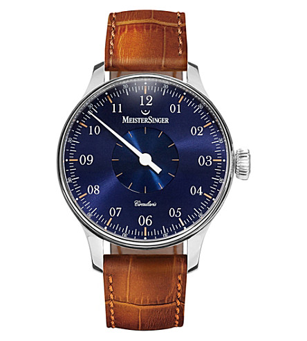 MEISTERSINGER Cc108 circularis stainless steel watch (Blue