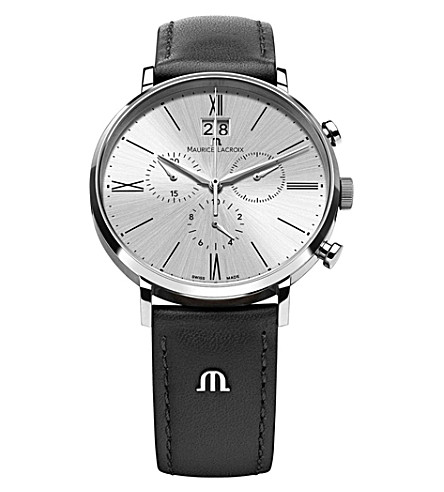 MAURICE LACROIX El1088-SS001-110 Eliros stainless steel and leather watch (White