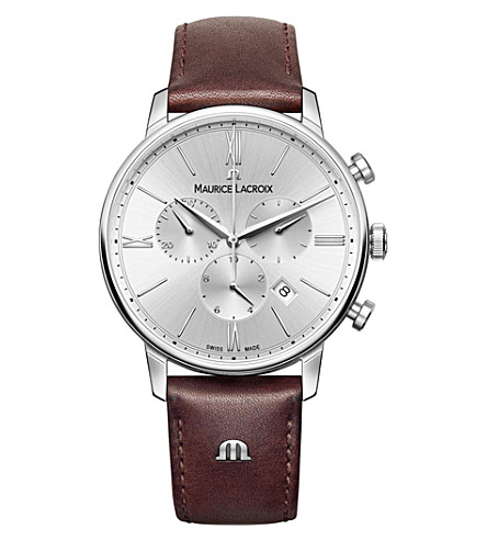MAURICE LACROIX EL1098-SS001-311-1 Eliros stainless steel chronograph watch