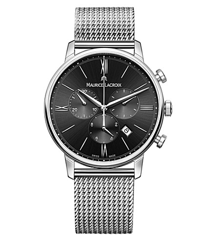 MAURICE LACROIX EL1098-SS002-310-1 Eliros stainless steel chronograph watch