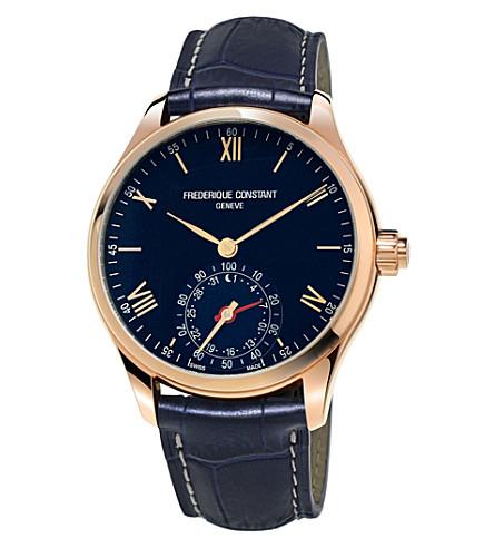 FREDERIQUE CONSTANT FC285N5B4 Smartwatch navy round leather strap