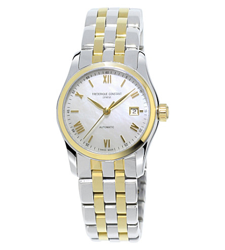 FREDERIQUE CONSTANT Fc-303mpwn1b3b Classics Automatic gold-plated stainless steel watch (White