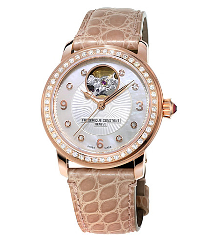 FREDERIQUE CONSTANT Fc-310hbad2pd4 Classics Heart Beat rose gold-plated watch (White
