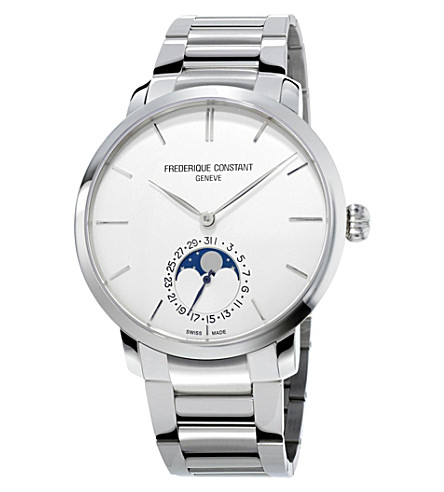 FREDERIQUE CONSTANT FC-705S4S6B2 Moonphase sterling silver watch (White