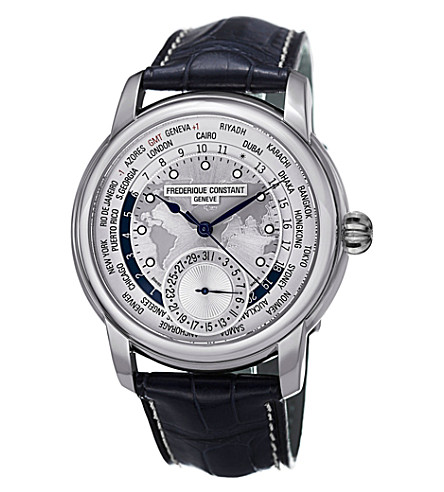 FREDERIQUE CONSTANT FC718WM4H6 Classics Manufacture stainless steel and leather watch (Silver