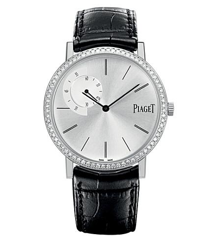 PIAGET Altiplano 18k white gold, diamond and alligator watch