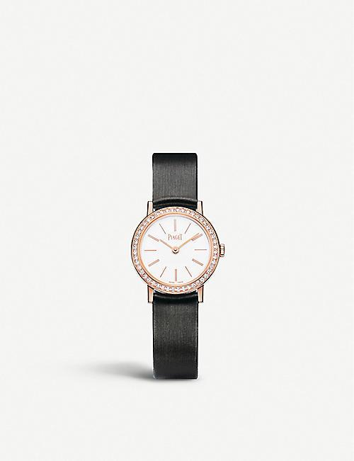 PIAGETg0a36534 阿尔蒂普拉诺18ct 玫瑰金,钻石和缎布表带腕表