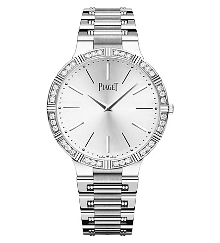 PIAGET G0A38046 Dancer 18 carat white gold and diamond manual watch