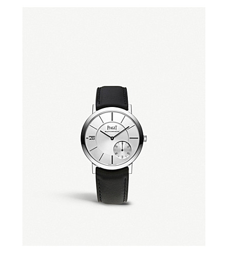 PIAGET G0A38130 Altiplano 18 carat white gold alligator strap automatic watch