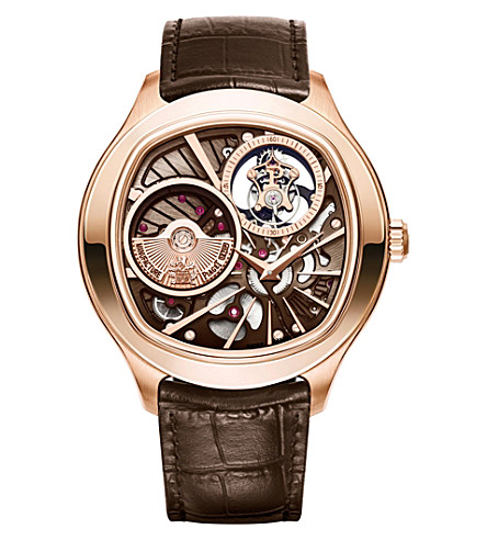 PIAGET 18ct gold and crocodile leather watch