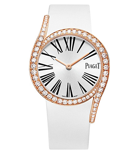 PIAGET G0A39167 LIMELIGHT GALA 18CT PINK-GOLD, DIAMOND AND SATIN WATCH