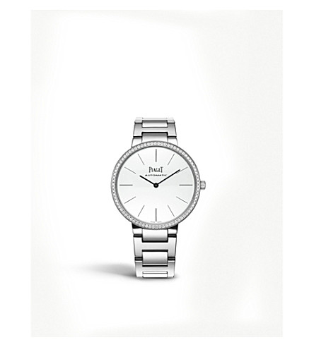 PIAGET G0A40112 Altiplano 18ct white-gold and diamond watch