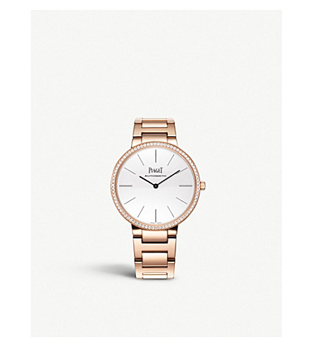PIAGET G0A40114 Altiplano 18k rose-gold and diamond automatic watch