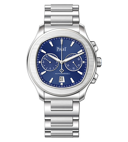 PIAGET G0A41006 Polo S steel and sapphire crystal chronograph watch