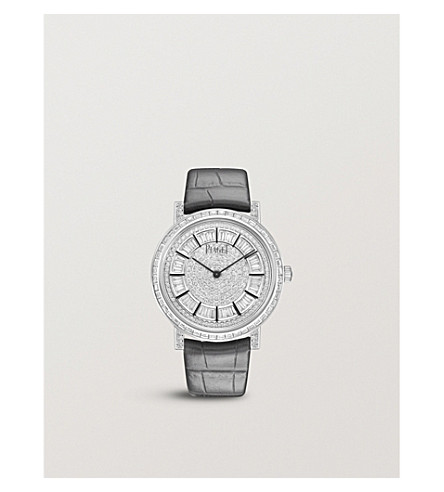 PIAGET G0A41127 Altiplano white gold, diamond and leather strap watch