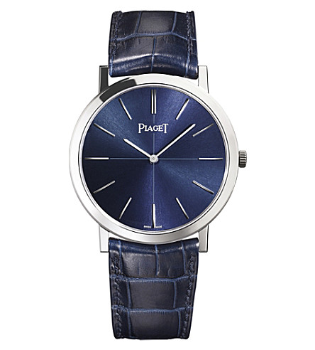 PIAGET G0A42107 Altiplano 18K white gold automatic alligator strap watch