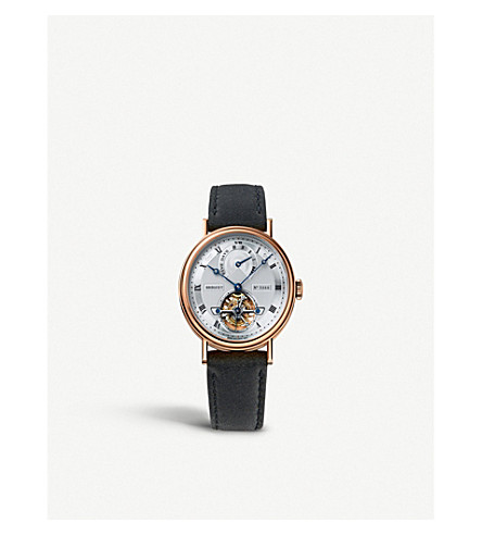 BREGUET 5317BR/12/9V6 Classique Complications 5317 18-ct rose-gold and leather watch