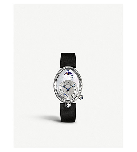 BREGUET 8908BB/52/864/D00D Reine de Naples 18ct white-gold, mother-of-pearl and diamond watch