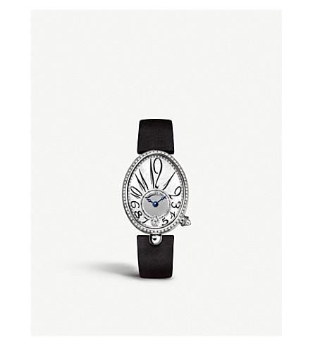 BREGUET 8918BB/58/864/D00D Reine de Naples 18ct white-gold, mother-of-pearl and diamond watch
