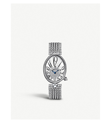 BREGUET 8918BB/58/J20/D000 Reine de Naples 18ct white-gold, mother-of-pearl and diamond watch